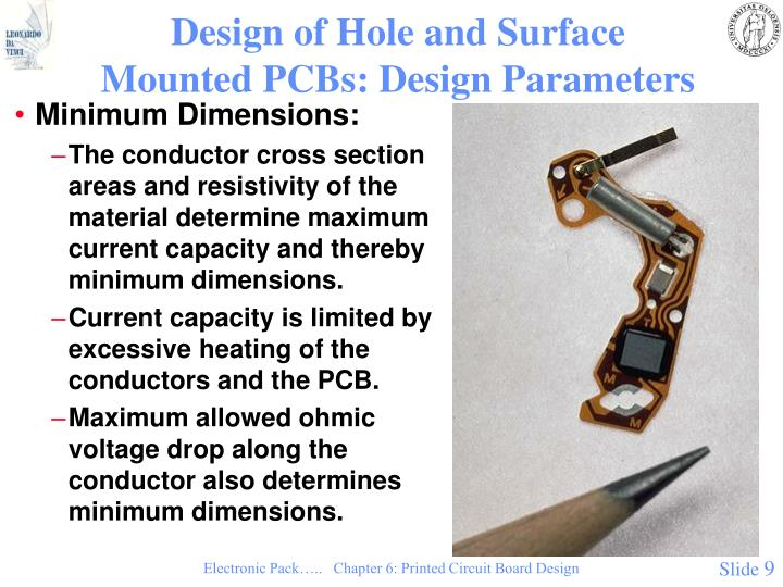 Design of Hole and Surface Mounted PCBs: Design Parameters