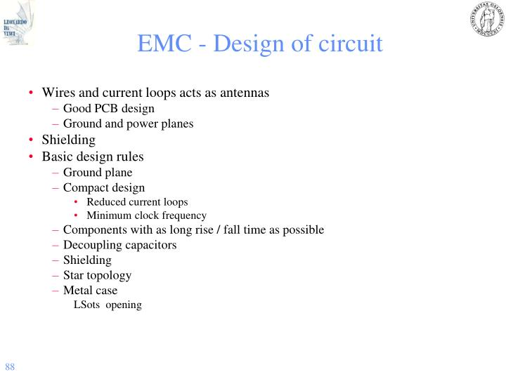 EMC - Design of circuit