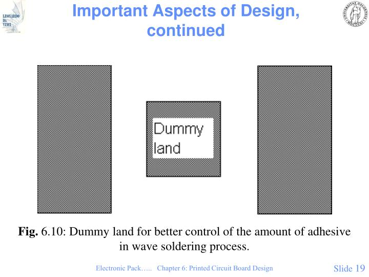 Important Aspects of Design, continued