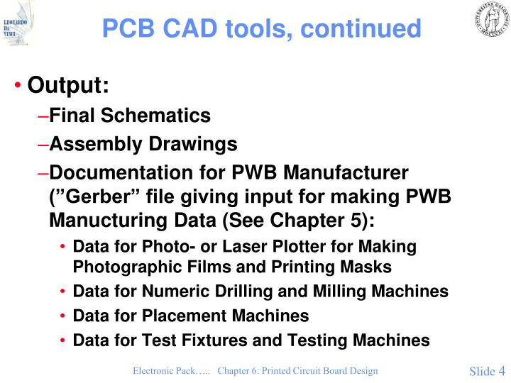PCB CAD tools, continued
