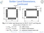 solder land dimensions continued3
