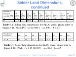 solder land dimensions continued4