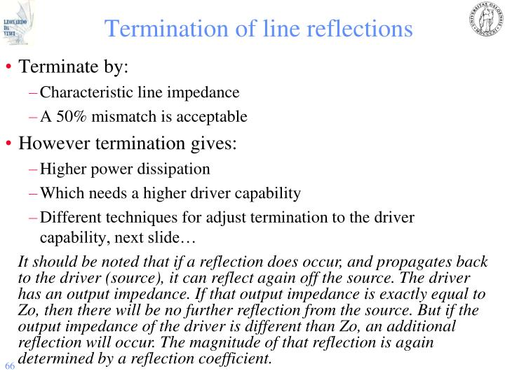 Termination of line reflections