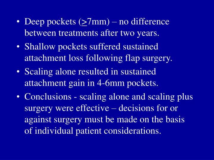 Deep pockets (