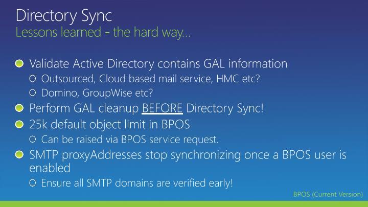 Directory Sync