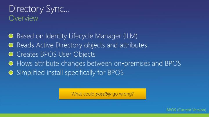 Directory Sync…