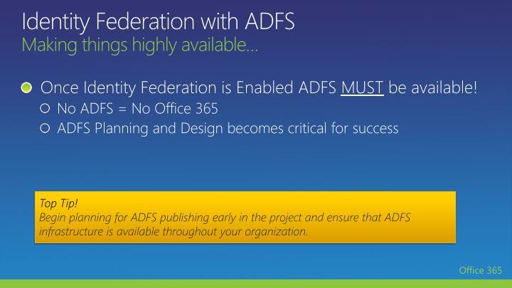 Identity Federation with ADFS