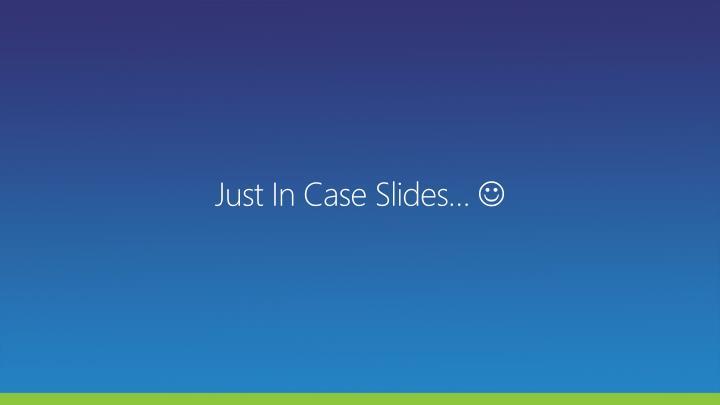 Just In Case Slides…