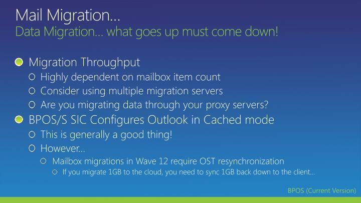 Mail Migration…