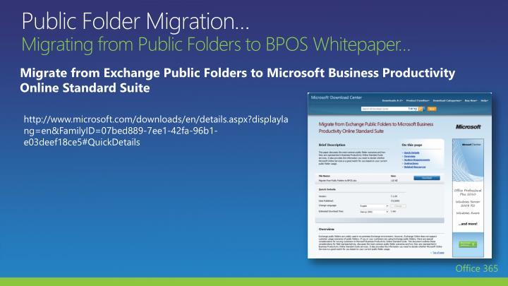 Public Folder Migration…