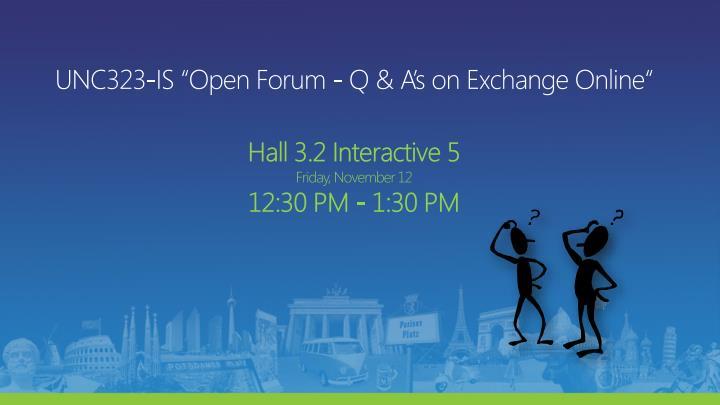 """UNC323-IS """"Open Forum - Q"""