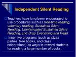 independent silent reading2