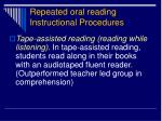 repeated oral reading instructional procedures1