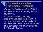 repeated oral reading instructional procedures3