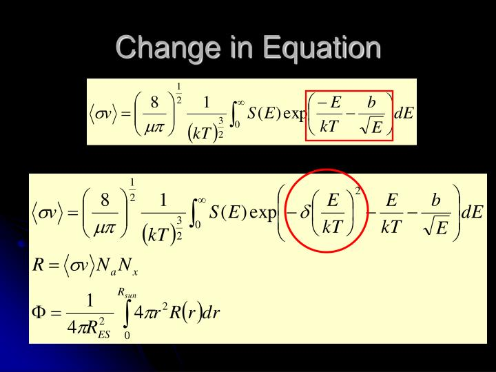 Change in Equation