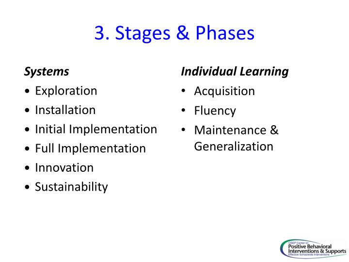 3. Stages & Phases