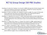 rct group design sw pbs studies