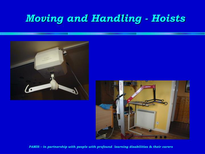 Moving and Handling - Hoists