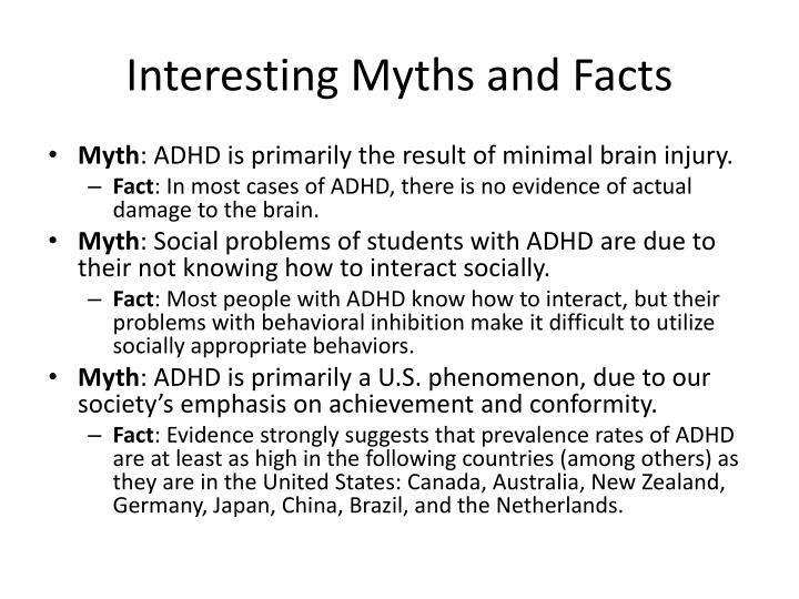 Interesting Myths and Facts