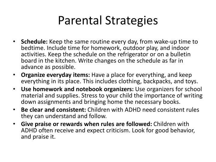 Parental Strategies