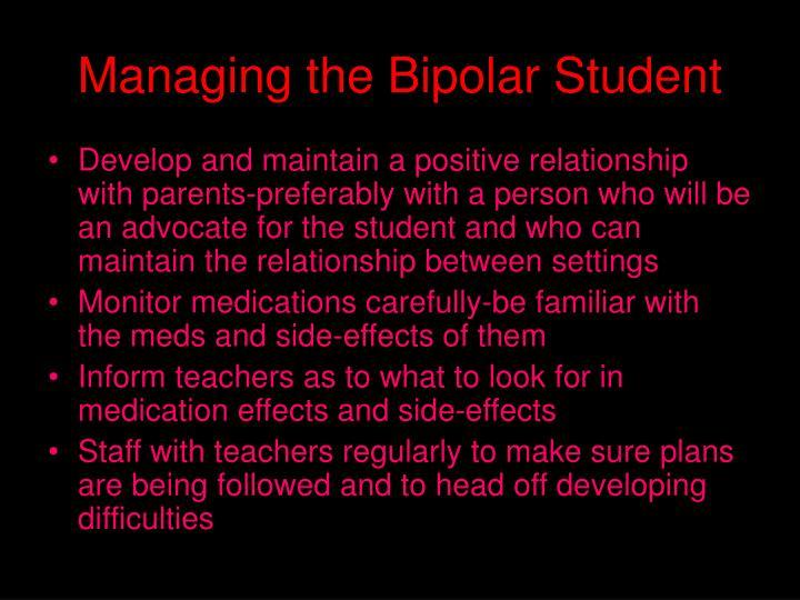 Managing the Bipolar Student