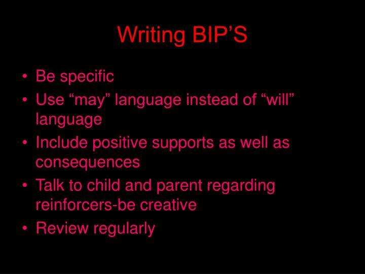 Writing BIP'S