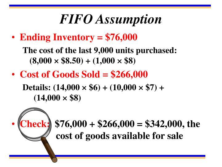 FIFO Assumption