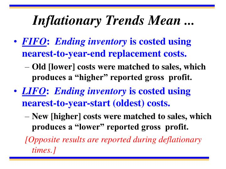 Inflationary Trends Mean ...
