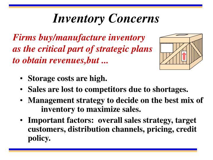 Inventory Concerns