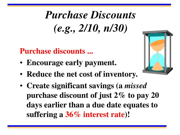 Purchase Discounts