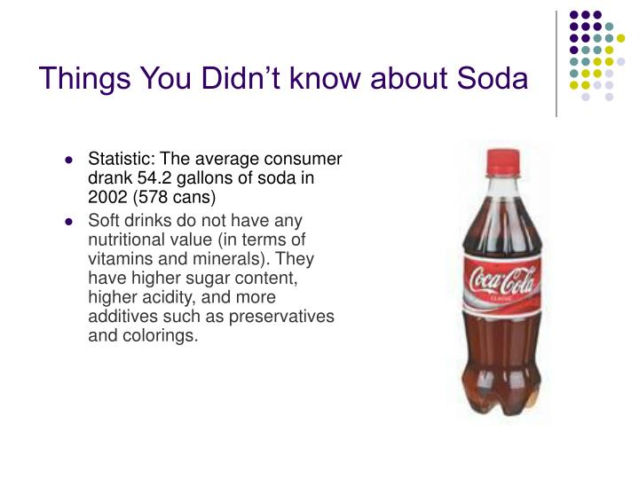 Things You Didn't know about Soda