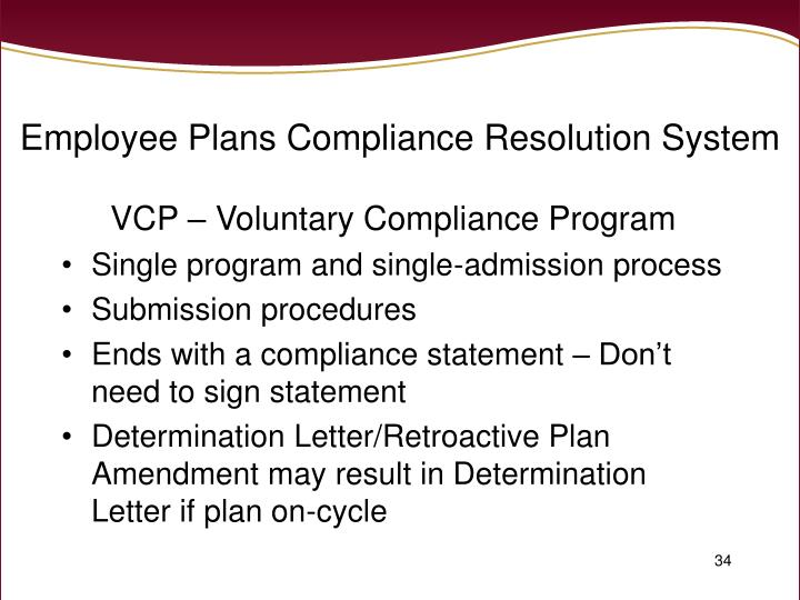 Employee Plans Compliance Resolution System
