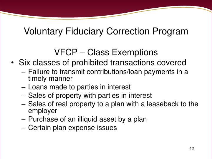 Voluntary Fiduciary Correction Program