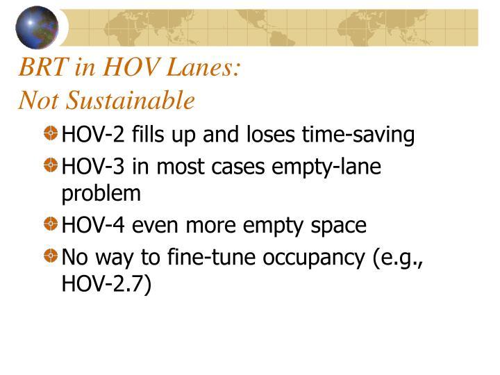 BRT in HOV Lanes: