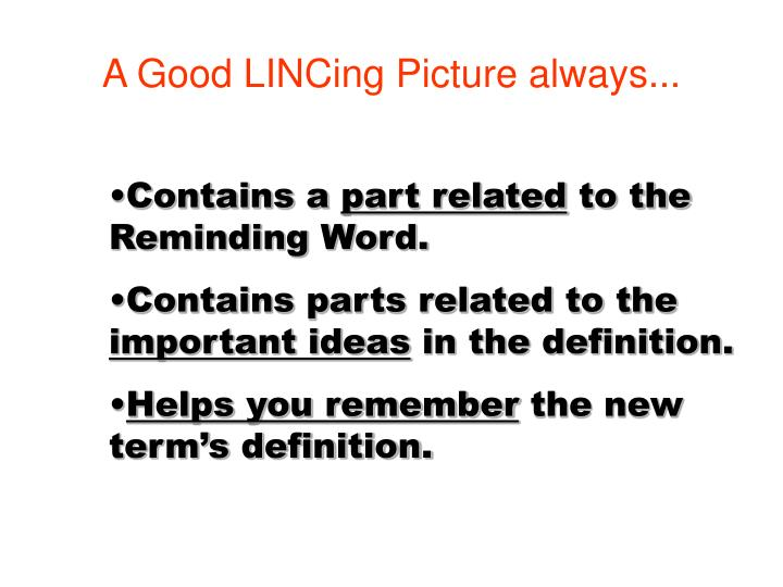 A Good LINCing Picture always...