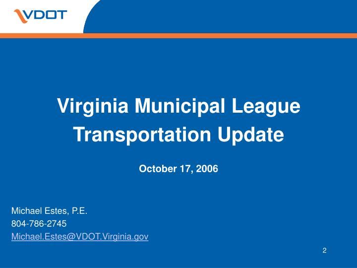 Virginia Municipal League