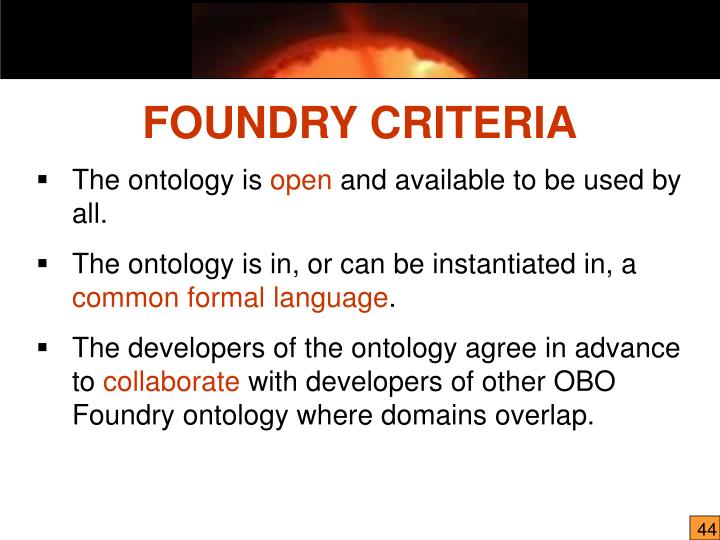 The ontology is