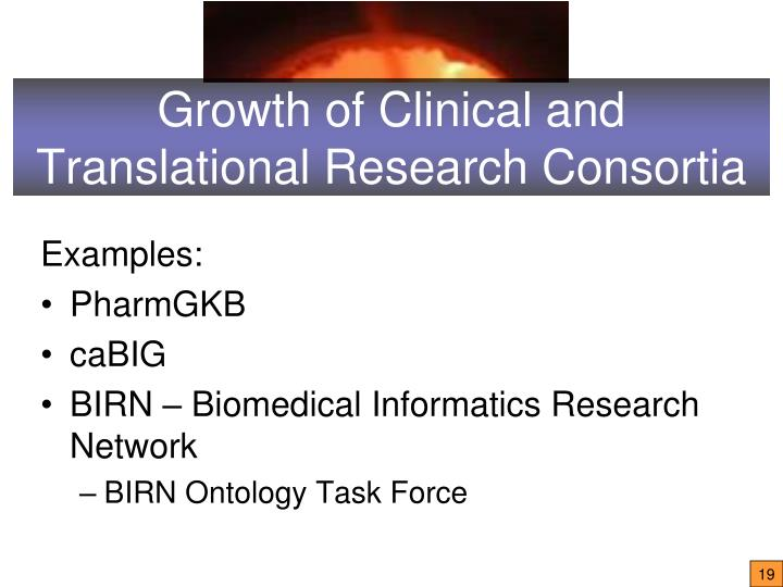 Growth of Clinical and Translational Research Consortia