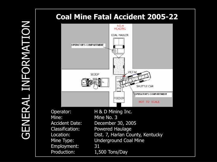 Coal Mine Fatal Accident 2005-22
