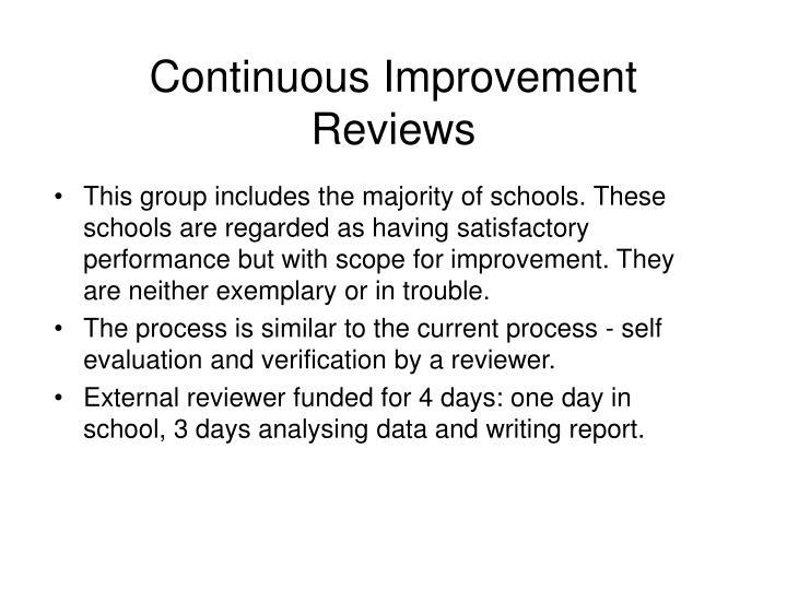 Continuous Improvement Reviews