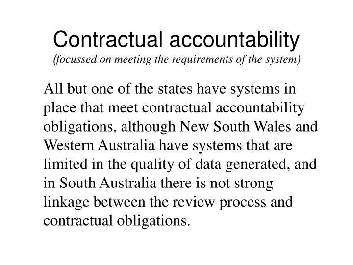 Contractual accountability
