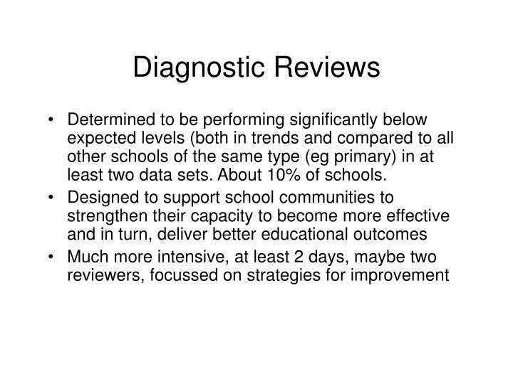 Diagnostic Reviews