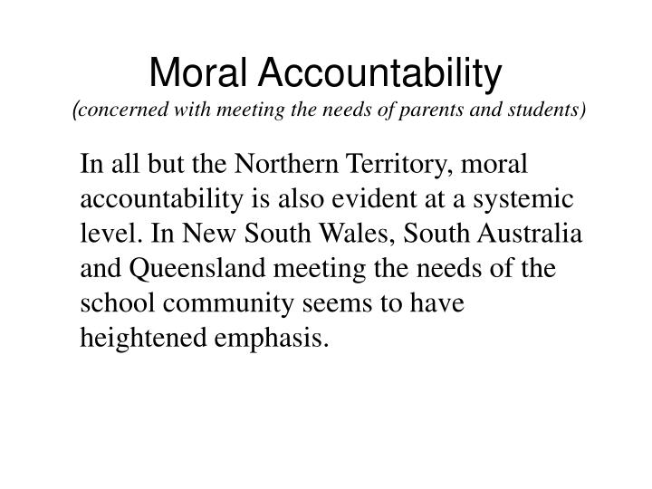 Moral Accountability