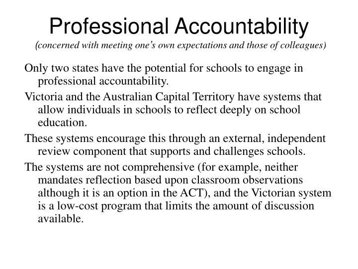Professional Accountability