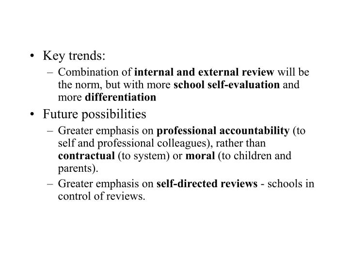 Key trends: