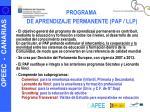 programa de aprendizaje permanente pap llp