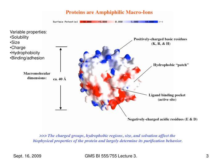 Variable properties: