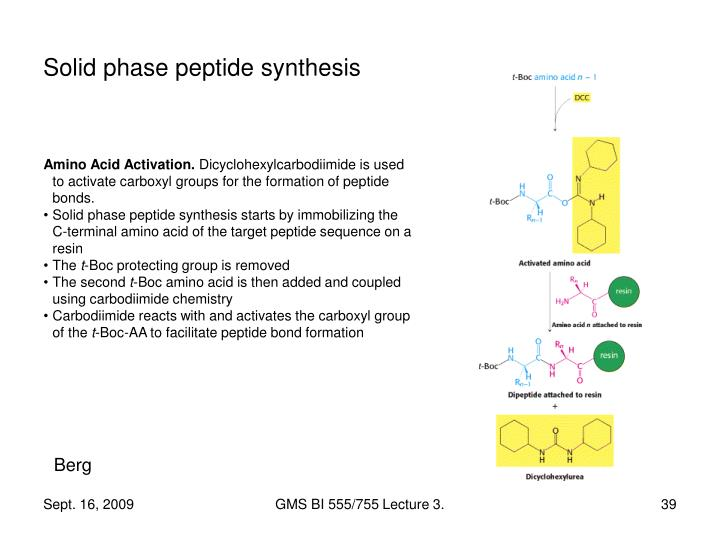 Solid phase peptide synthesis