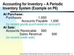 accounting for inventory a periodic inventory system example on p6