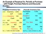 an example of perpetual vs periodic at purchase with freight purchase returns and discounts contd